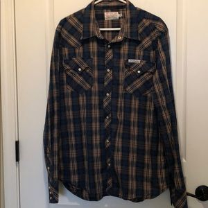 True religion men's button up shirt